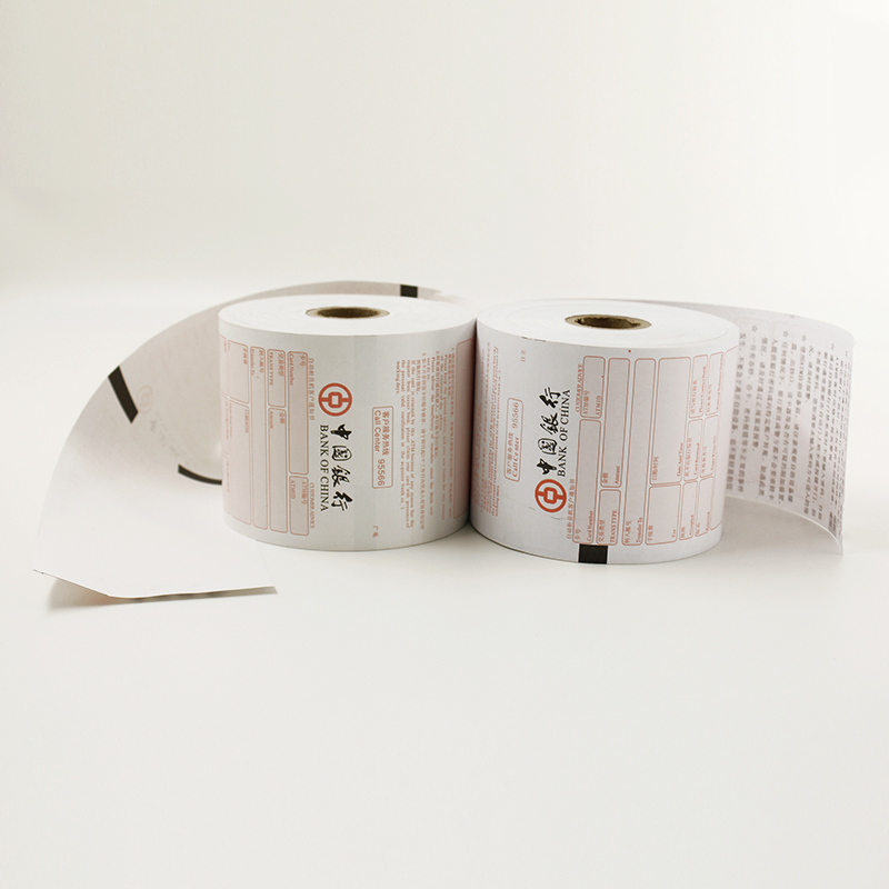 ATM roll thermal paper with black mark